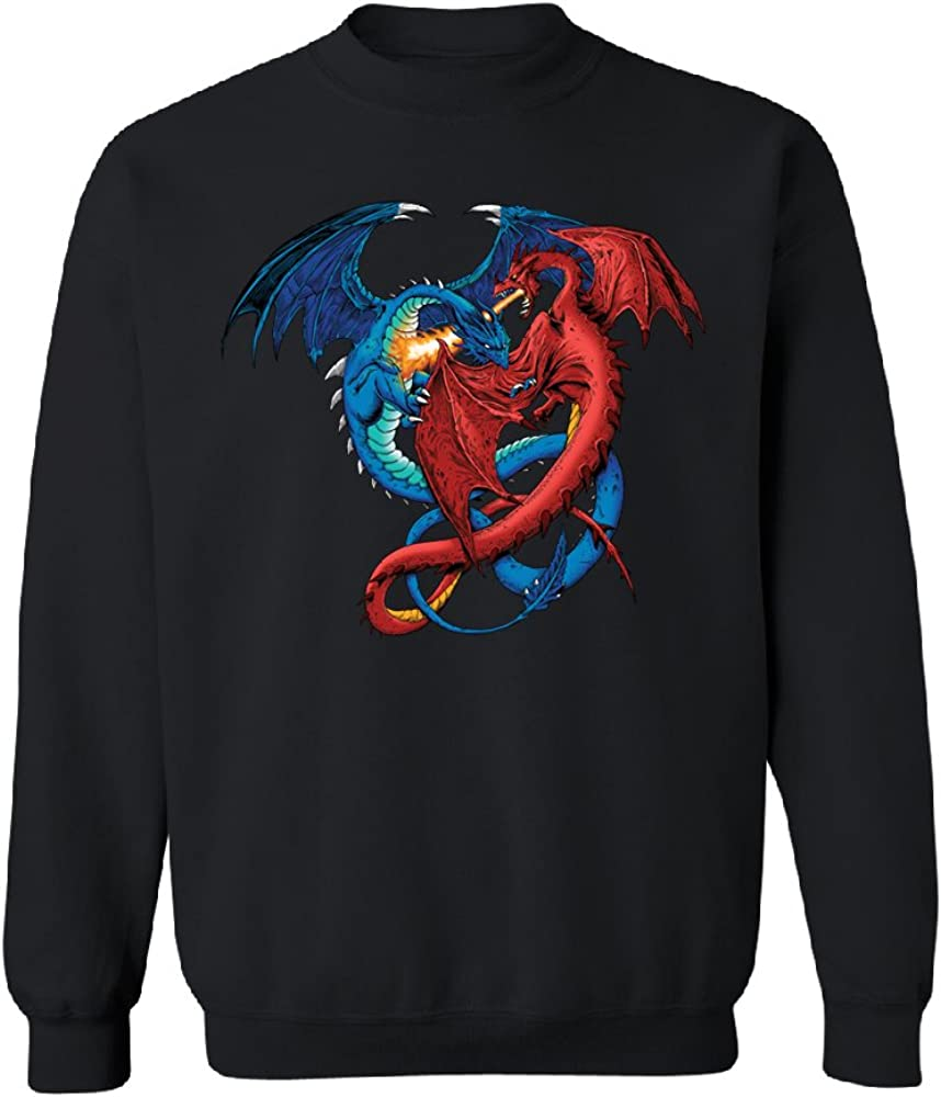 Duel Dragon Unisex Crewneck Cool Print Sweater