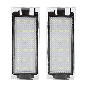Amazon.com: Terisass - 2 luces LED para matrícula de Renault ...