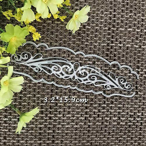 Lace Border Cutting Dies,Letmefun Metal Cutting Dies Stencils for DIY Scrapbooking album Decorative Embossing Craft Dies Cut Paper Cards Tool 2019