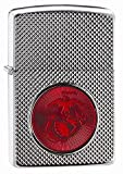 Zippo USMC Red Logo Armor High Polish Chrome Pocket Lighter