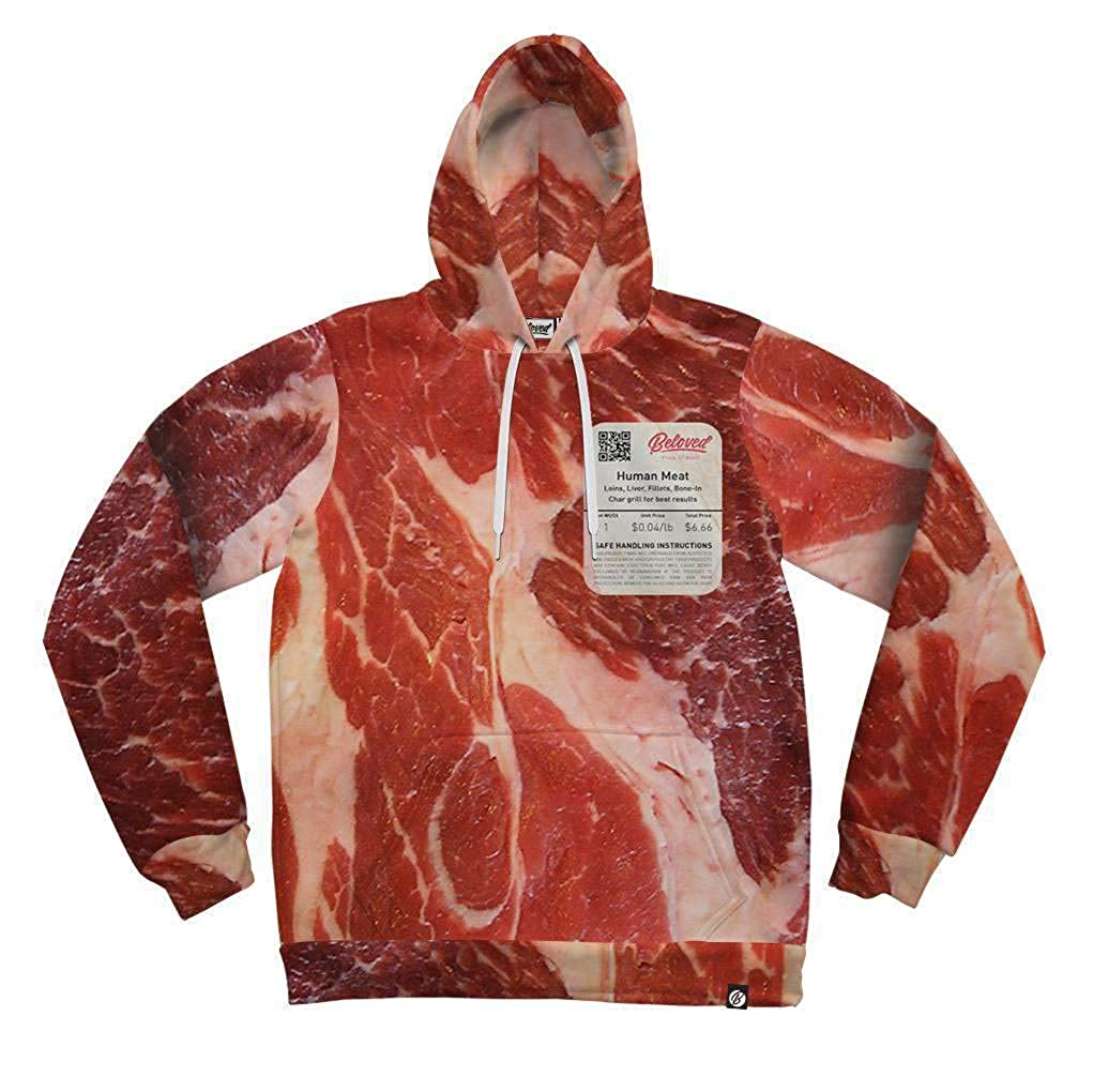 Beloved Shirts Human Meat Hoodie-As Seen On Shark Tank