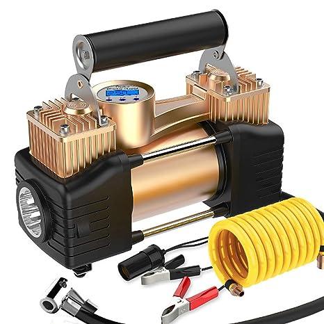 SUMGOTT Compresor Aire Coche Port/átil Inflador El/éctrico con Pantalla Digital LCD M/áxima 150psi Apto para Hinchar Neum/áticos de Moto Coche y Bicicleta