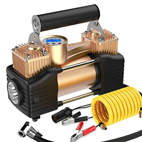 Compresor De Aire, Inflador De Neumáticos Portátil Para Coche, Bomba De Neumático 150PSI Indicador