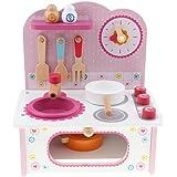 P Prettyia ピンク キッチン調理用 コンロベンチ 調理器具 プレイセット 子供 おままごとおもちゃ
