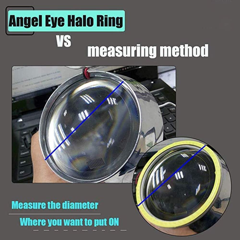 140MM 1-Pair White 140MM COB LED Headlight Angel Eyes Bulb Halo Ring Lamp Light without Housing YSY