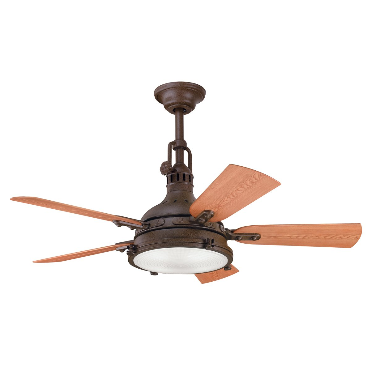 Outdoor Patio Fans With Lights Part - 31: Kichler 310101WCP 44`` Ceiling Fan - Outdoor Ceiling Fan With Light -  Amazon.com