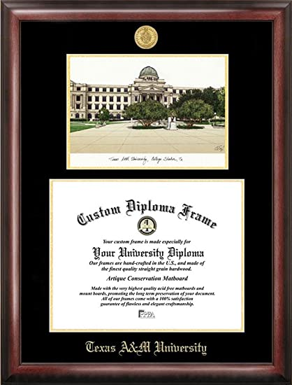 Amazon.com : Texas A&M Aggies Diploma Frame with Limited Edition ...