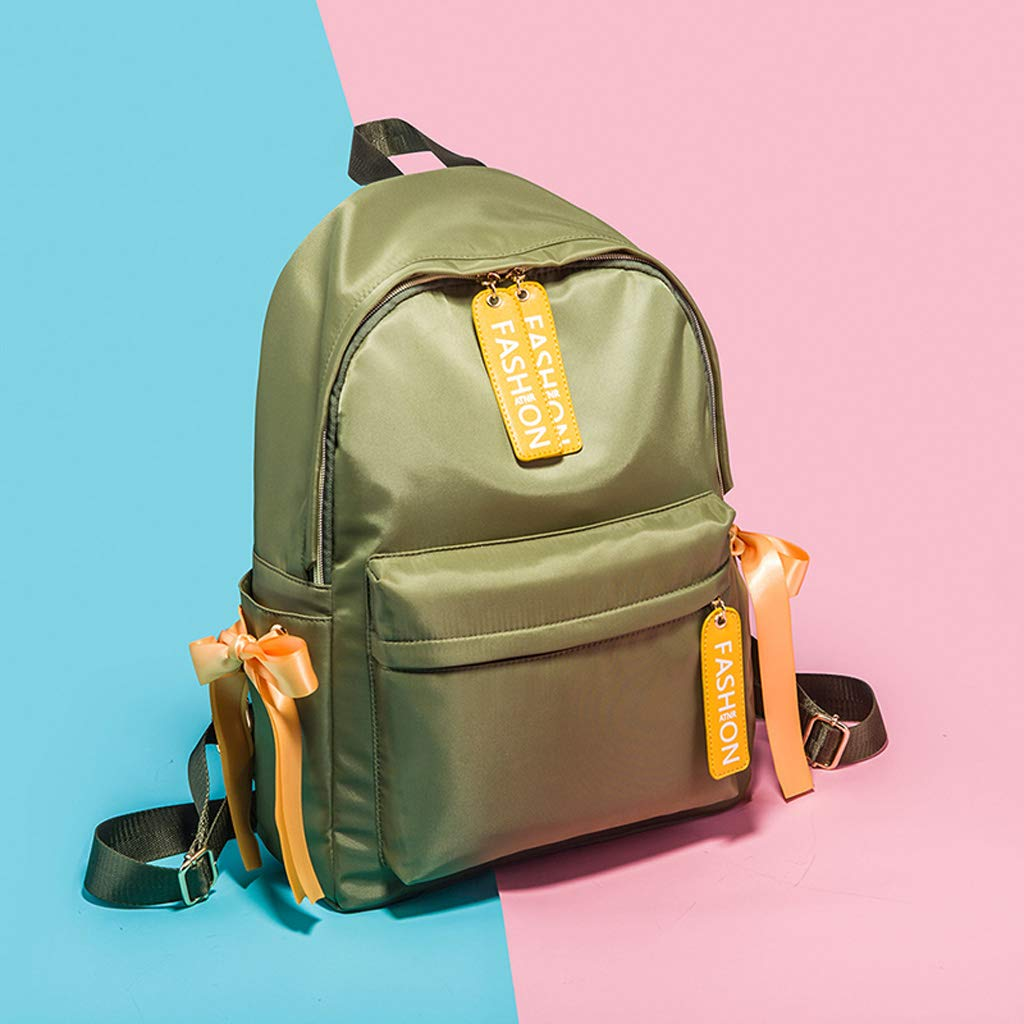 HLJ Ladies Casual Backpack Personality Student Backpack Fashion Travel Backpack Color : Green, Size : 301239cm