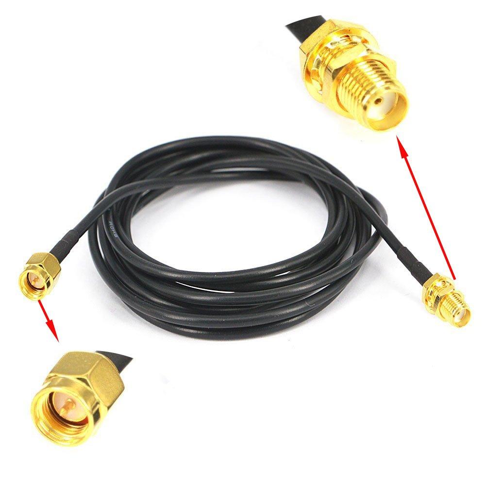 Amazon.com: YOTENKO 6.5ft Extensional Cable SMA Male to SMA Female ...
