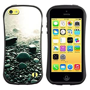 Suave TPU GEL Carcasa Funda Silicona Blando Estuche Caso de protección (para) Apple Iphone 5C / CECELL Phone case / / Beach Black Rocks Water Pebbles Nature /