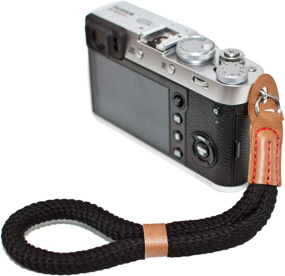 Hand Strap Compatible with Fujifilm X-T30 X-T4 X-T3 X100F X-T20 X-T2 X-Pro2 X-E2 X30 X100T A6100 A6600 A6400 A6000 Cameras Adjustable Safety Handstrap VKO Green Cotton Soft Camera Wrist Strap