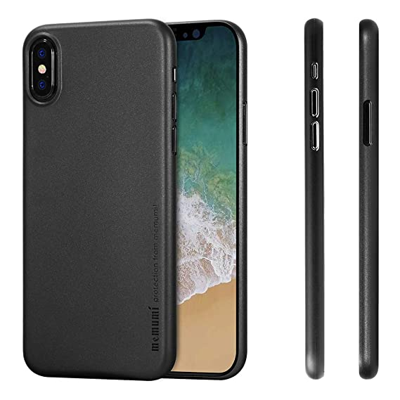super popular 88a04 c8878 for iPhone X Case, memumi 0.3 MM Thin Compatible with iPhone X Case Non  Slip Anti Fingerprint Matte Surface Cover for iPhone X (Matte Black)