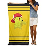 Ouidtk Pokemon Pocket Monster Pikachu Beach Towel For Adults