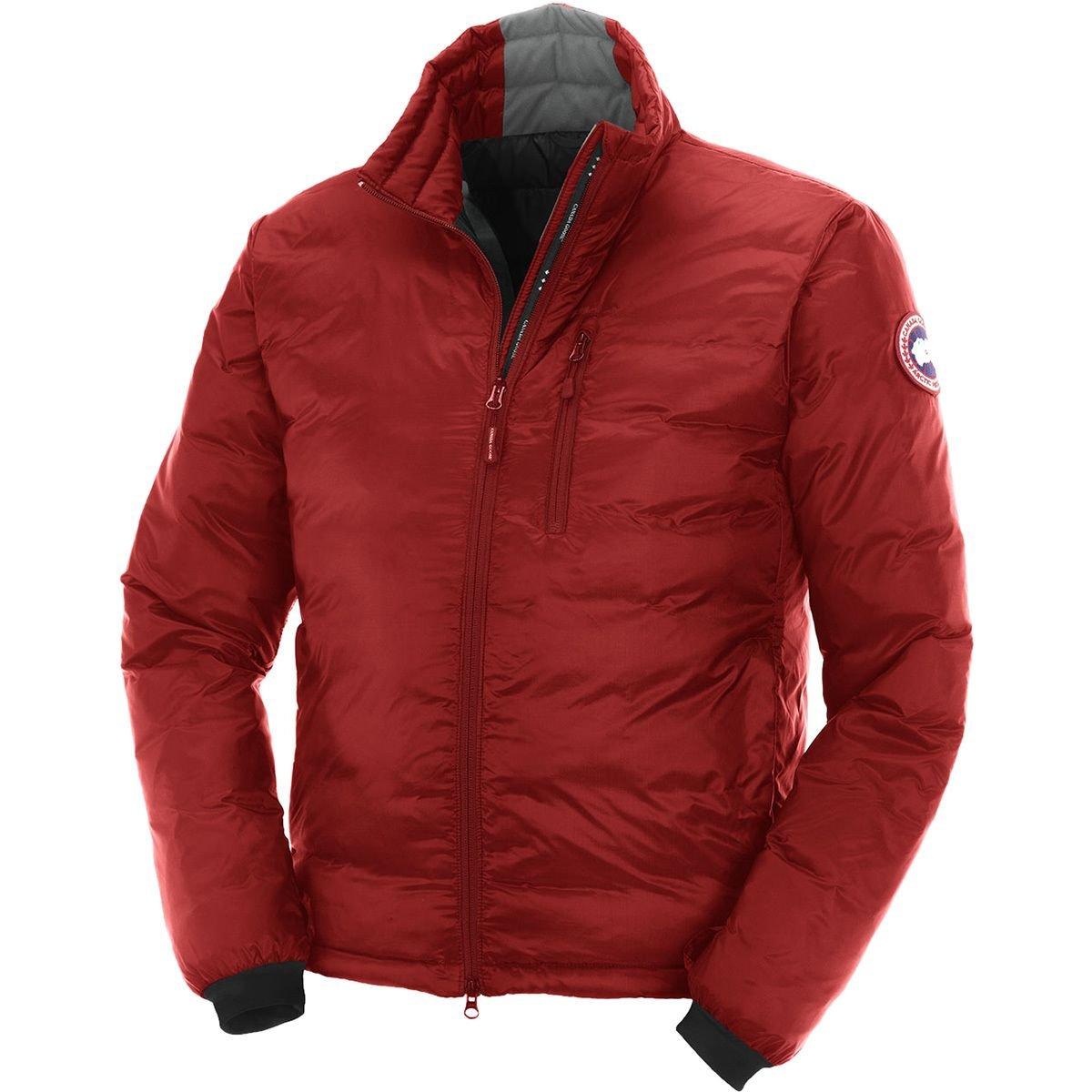 (カナダグース)Canada Goose Lodge Down Jacket メンズ ジャケットRed/Black [並行輸入品] B077N7KJD8  Red/Black 日本サイズ M (US S)