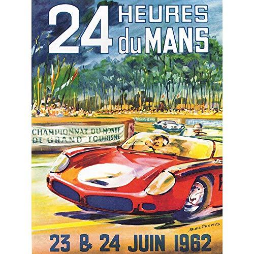 Wee Blue Coo Advert Race Car Racing Automobile Classic 24 Heures Du Mans Unframed Wall Art Print Poster Home Decor Premium