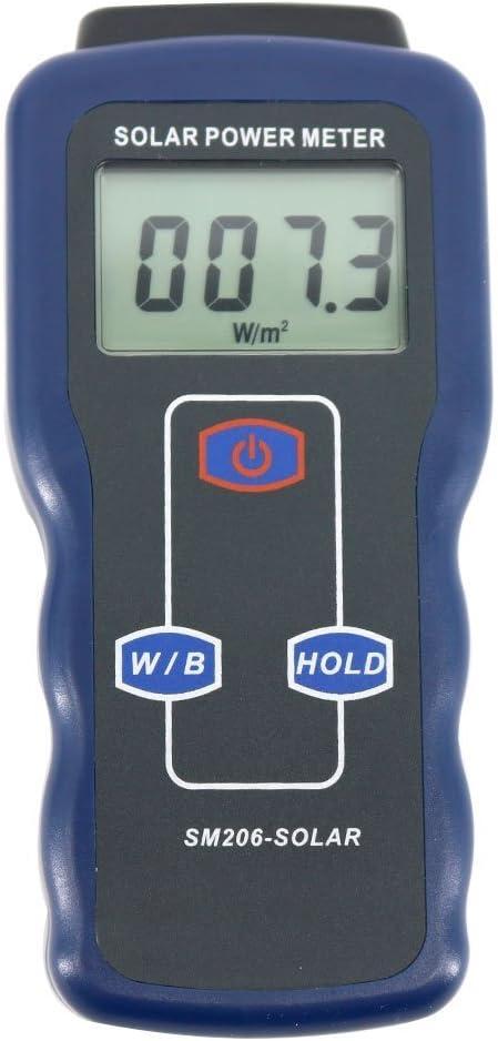 Solar Power Meter Light Meter Data Hold And Peak Hold For Solar Radiation Tester