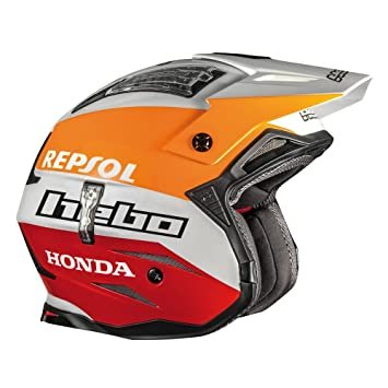 HEBO Trial Zone 4 Montesa Team II Casco, Blanco, Talla M