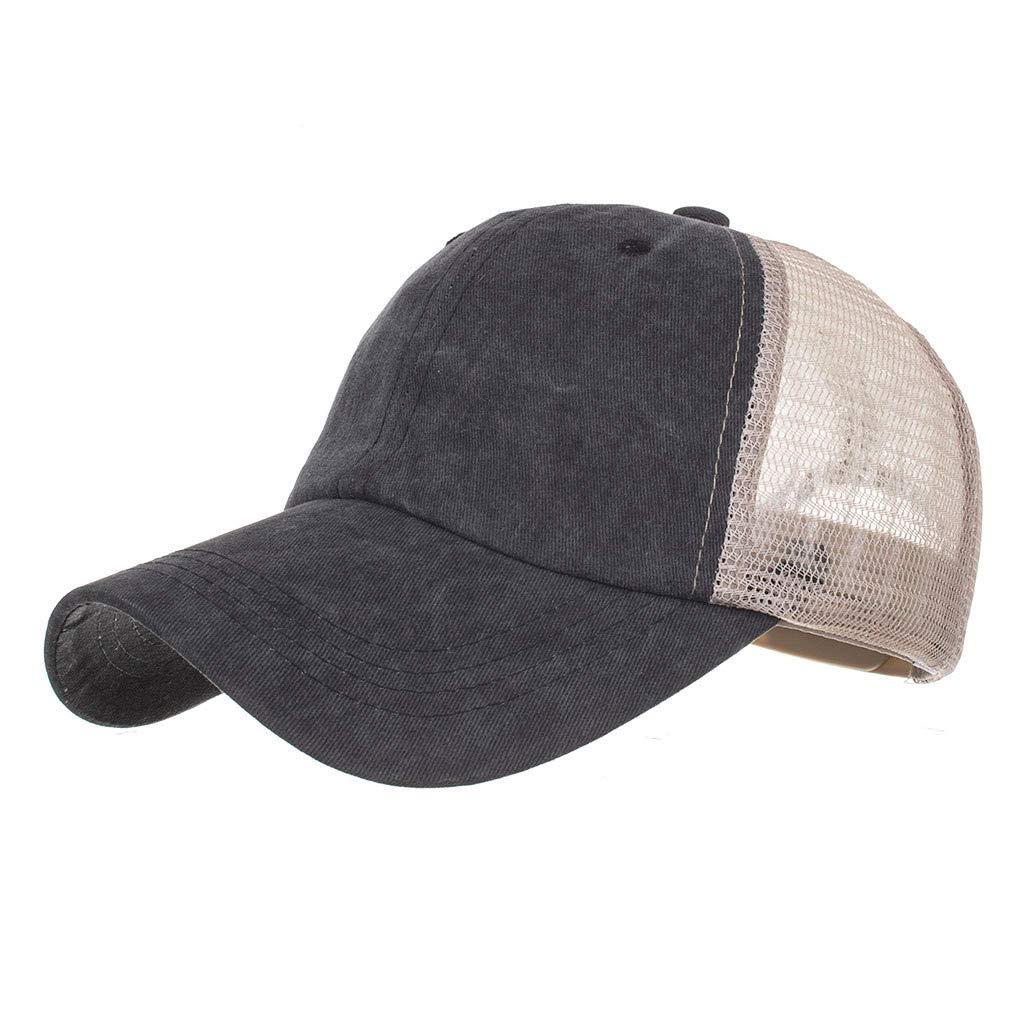 110ed25f6d Amazon.com: Baseball Caps, Classic Vintage Unisex Color Block Mesh ...