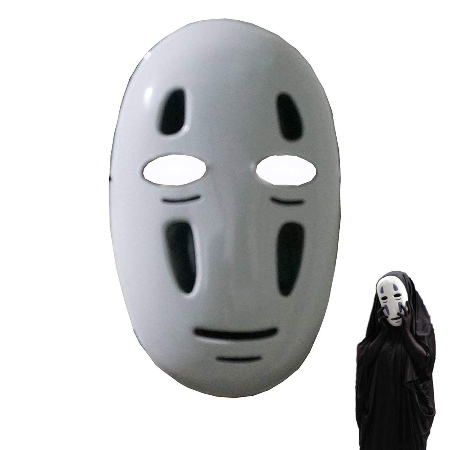 Buy Idoxe Halloween Mask Spirited Away No Face Faceless Ghibli Mask Cosplay Anime Costume White Black Online At Low Prices In India Amazon In