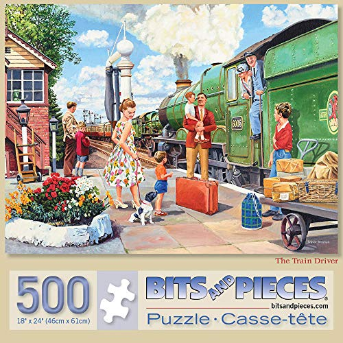 Bits and Pieces - The Train Driver 500 Piece Jigsaw Puzzles for Adults - Each Puzzle Measures 18