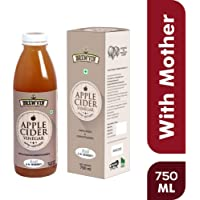 Brewvin Raw and Unfiltered Apple Cider Vinegar with Mother, 750ml
