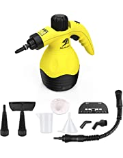 MLMLANT Handheld Pressurized Steam Cleaner with 11-Piece Accessory Set - Multi-Purpose and Multi-Surface All Natural, Chemical-Free Steam Cleaning for Home, Auto, Patio, More