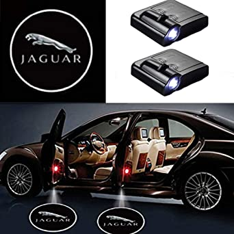 3D Wireless Magnetic Car Door Step LED Welcome Logo Shadow Ghost Light Laser Projector Lamp Lightning Wolf