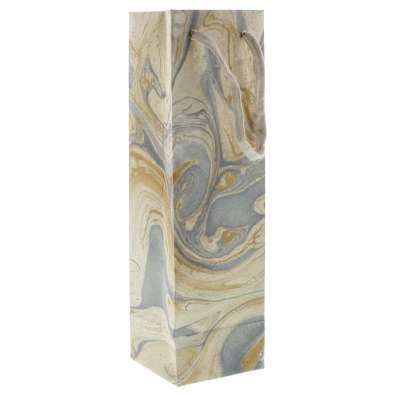 HomArt Marbleized Paper Wine Bag (Blue) (Set of 24)