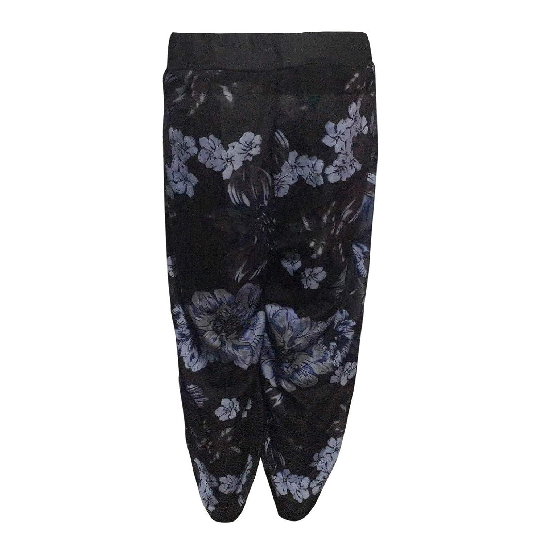 a3c6b575cccfd HLHN Women Harem Trousers Wide Leg Boho Floral Hippy Aladdin Plus Size  Baggy Yoga Elastic Pants High Waist Casual  Amazon.co.uk  Clothing