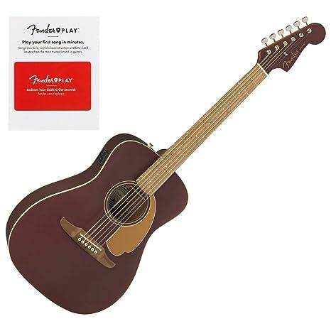 Fender 0970722088 Malibu Player - Guitarra eléctrica acústica ...