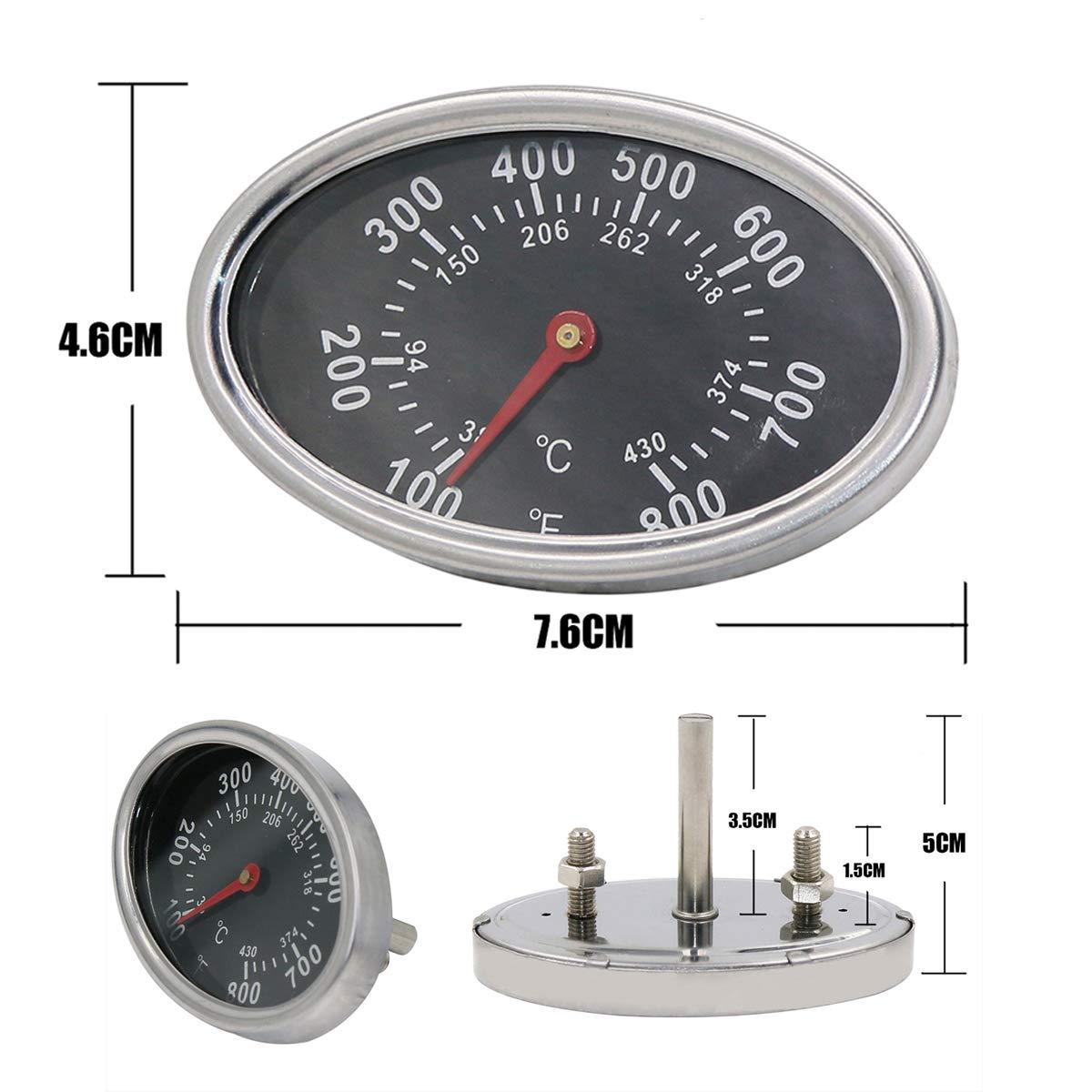 Brinkmann Gas Grill Temperature Gauge 100 F 700 F New ************************