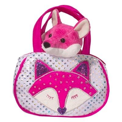 Shimmering Fox Sassy Pet Sak Tote with Pink Fox Plush Toy: Toys & Games