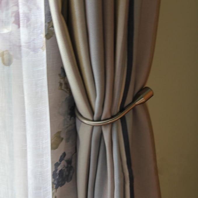 Funrui Embrasse à Rideau U Design Crochet Embrasse Rideaux Métal