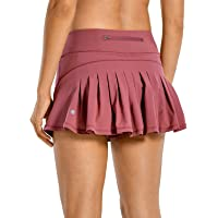 CRZ YOGA Women's Athletic Tennis Golf Skirts Pleated Shorts Sport Skort with Pocket