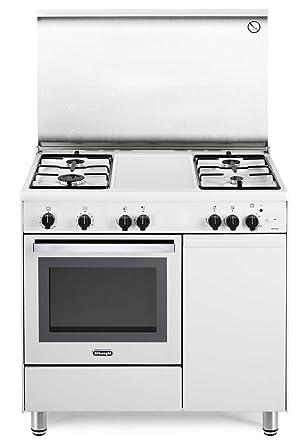 cocina A Gas con Horno de gas, Libre instalación. 90 x 60 cm Color ...