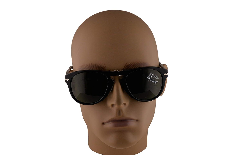 Persol 714 Folding Sunglasses Black w//Green Lens 52mm 9531 PO 0714 PO0714 PO714