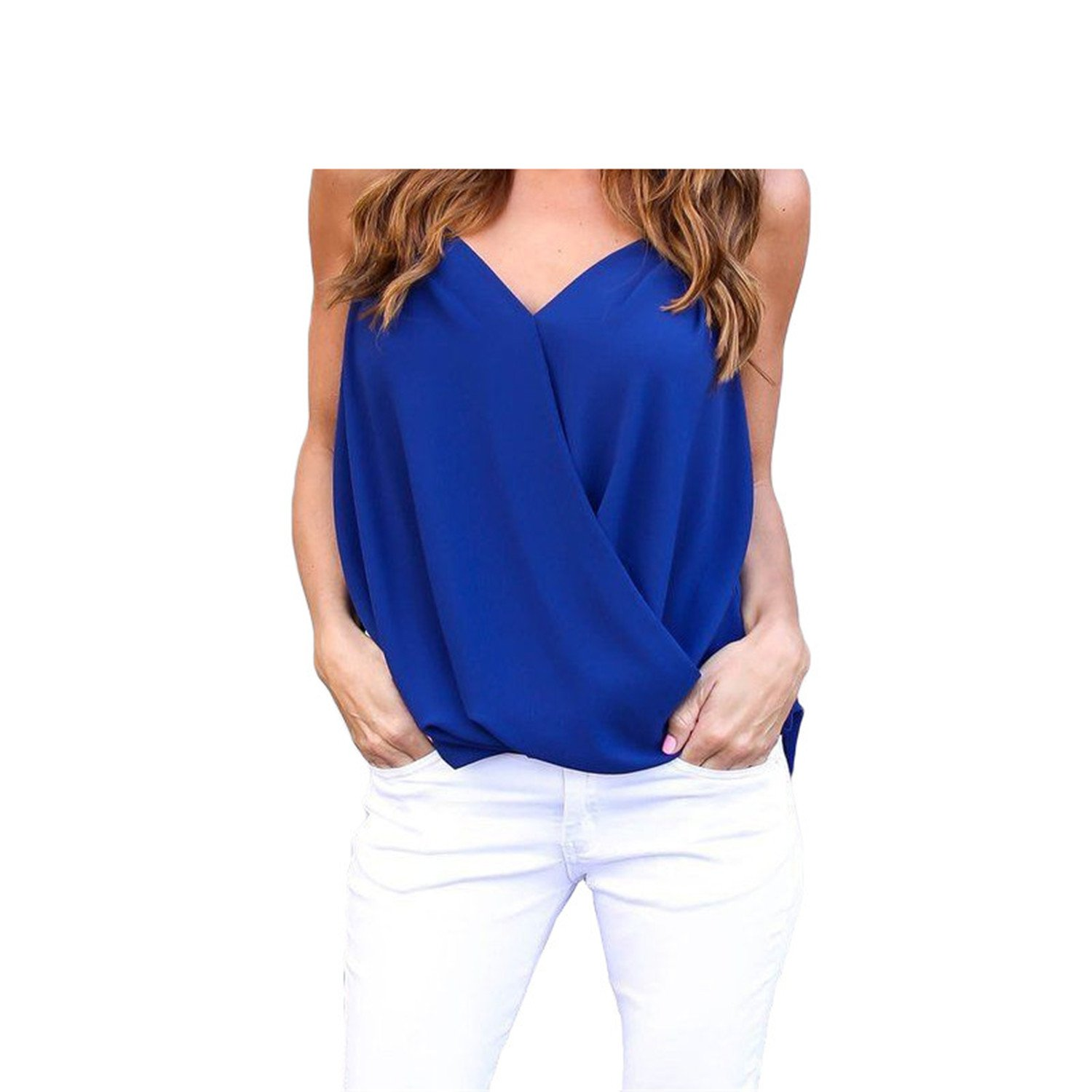 Womens Blouse Chiffon Shirt Womens Tops and Blouses V-Neck Off Shoulder Top 2018 at Amazon Womens Clothing store: