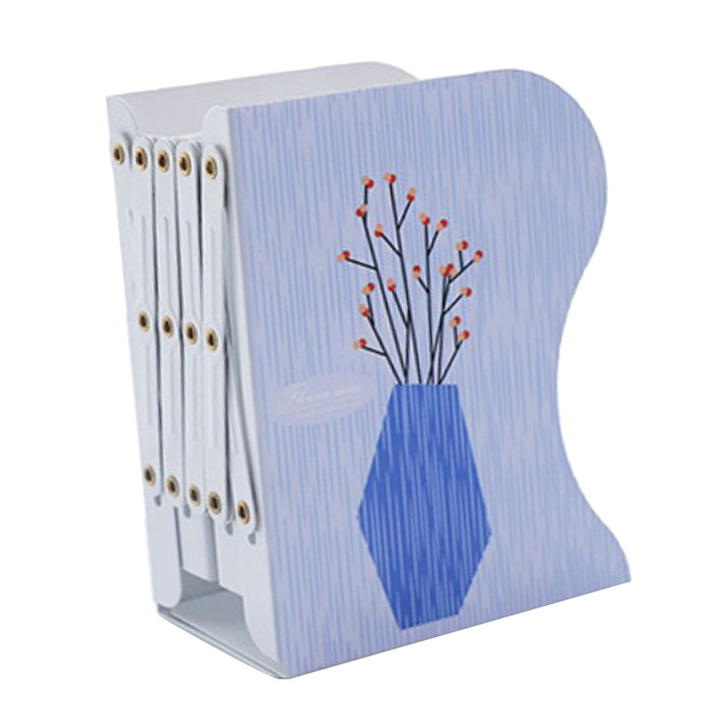 Fityle Adjustable Bookends Extension Books Holder Stand Desktop Book Rack Document Storage Shelf for Office Study Room - #6, 15x10x19cm