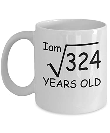 Image Unavailable Not Available For Color 18 Year Old Square Root 324 Shirt 18th Birthday Gift
