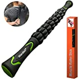 Werded Muscle Roller Stick, Massage Tool for Sore Tight Muscles, Cramps, Trigger Points, Knots, Top Massager for Calf, Legs, Back, Rehab, Lactic Acid Recovery