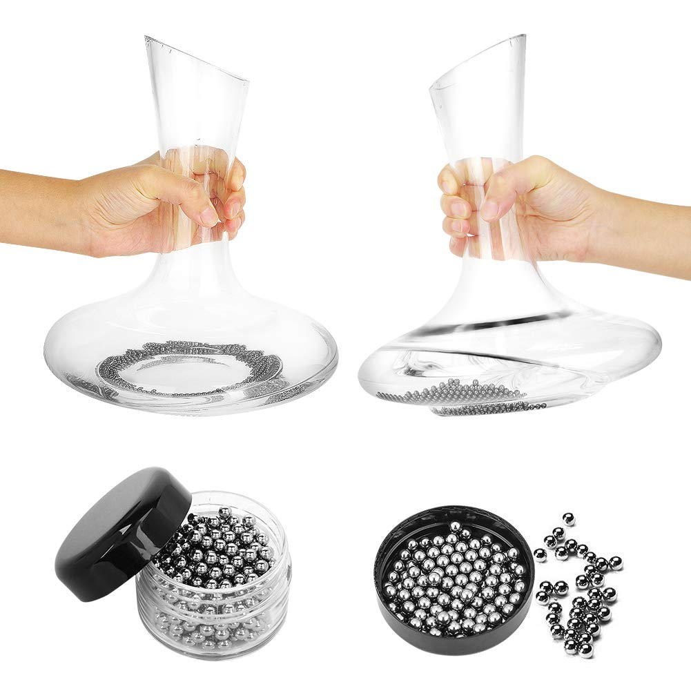 Decanter Stand, Decanter Drying Rack Bundle with Decanter Cleaning Brush, Decanter Cleaning Beads by Tiawudi (Image #5)