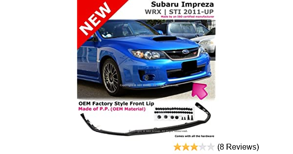 Amazon.com: Subaru Impreza WRX STI V Limited S204 2011 To 2012 Poly  Urethane Front Bumper Lip: Automotive