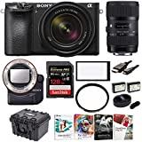 Sony a6500 Mirrorless Camera with 18-135mm f/3.5-5.6, 18-35mm Lens and LAEA4 Mount