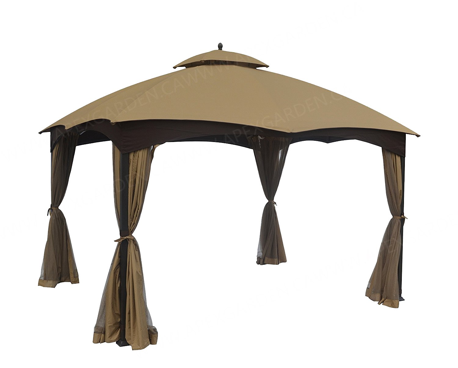 APEX GARDEN Replacement Canopy Top for Lowes Allen Roth 10X12 Gazebo #GF-12S004B-1