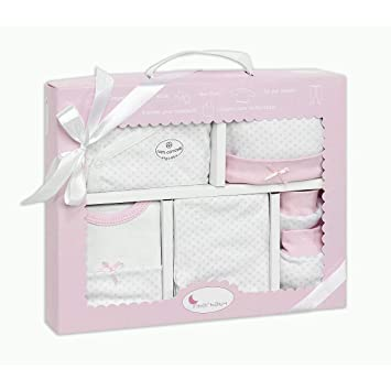 Set Primera Puesta 5 Piezas Rosa - Regalos Bebés MINDOO