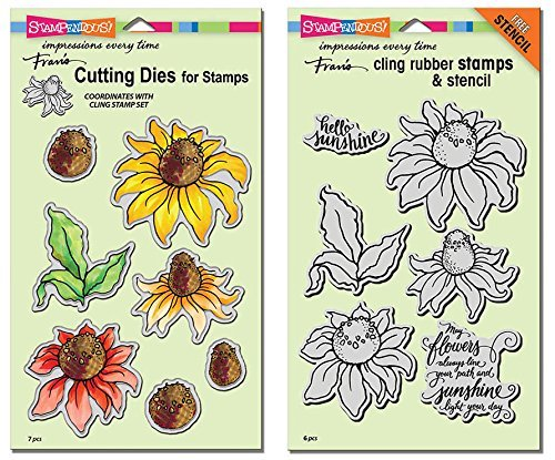 Stampendous Coneflower Stamps & Dies Set - 2 Item Bundle by STAMPENDOUS (Image #1)