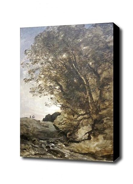 Don Quijote de Corot lienzo decorativo, con 3,81 cm marco de ...