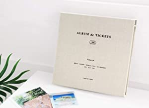 ICONIC Ticket in - Ticket Stub Organizer, Ticket Album, Ticket Stub Diary (Light Gray)
