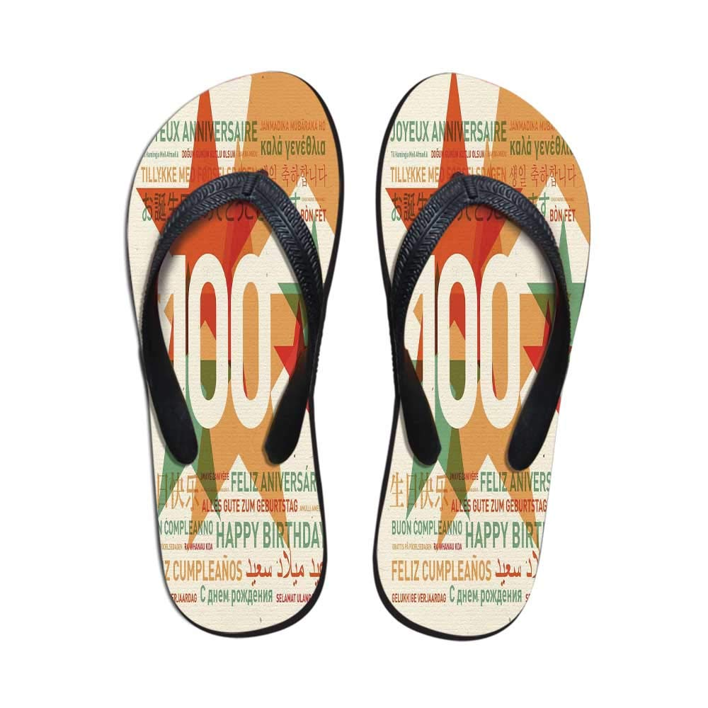 outlet store fc05d 484fd Amazon.com | 100th Birthday Decorations Stylish Flip Flops ...