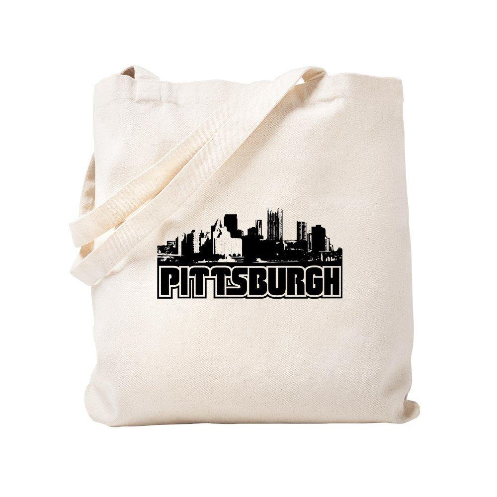 CafePress – ピッツバーグSkyline – ナチュラルキャンバストートバッグ、布ショッピングバッグ S ベージュ 0477210150DECC2 B0773TJ23S S